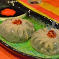 Steamed Garlic Chive Dumplings, Kanom Gu Chai