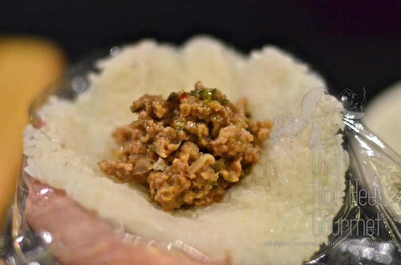 Fried glutinous rice balls filled with Larb by The High Heel Gourmet 1 (1)