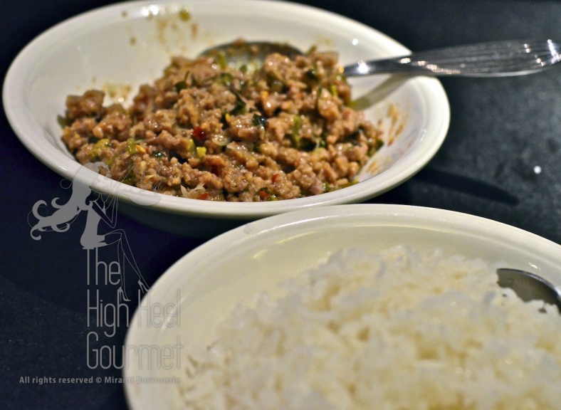 Fried glutinous rice balls filled with Larb by The High Heel Gourmet 1