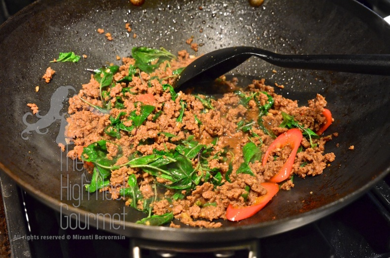 Thai Pad Ka-Prow, Bison Stir Fried with Holy Basil by The High Heel Gourmet 4