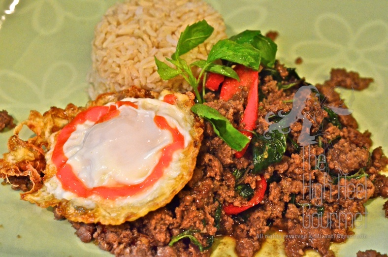 Thai Pad Ka-Prow, Bison Stir Fried with Holy Basil by The High Heel Gourmet 6 (1)