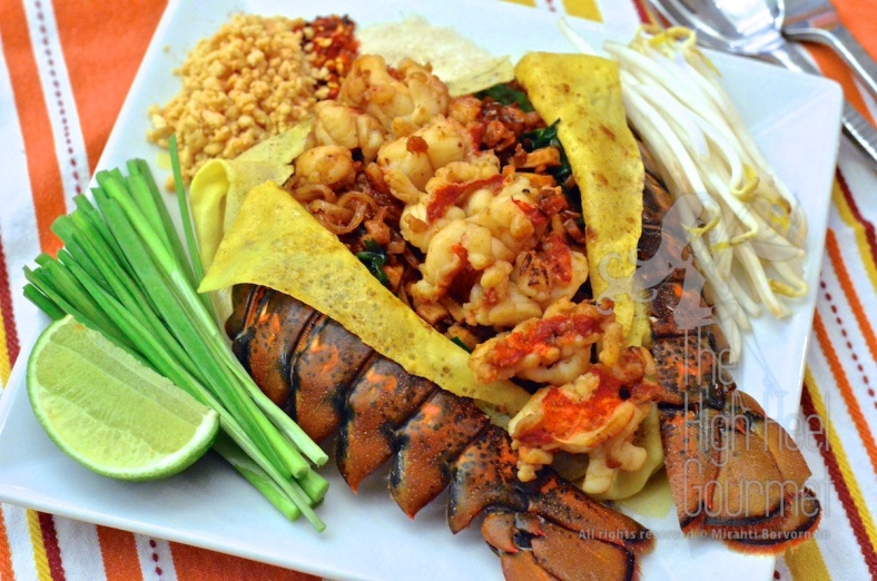 Lobster Pad Thai Wrapped with Egg Crepe by The High Heel Gourmet