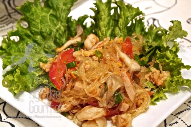 Thai Style Cellophane Noodles Salad - Yum Woon Sen by The High Heel Gourmet 9