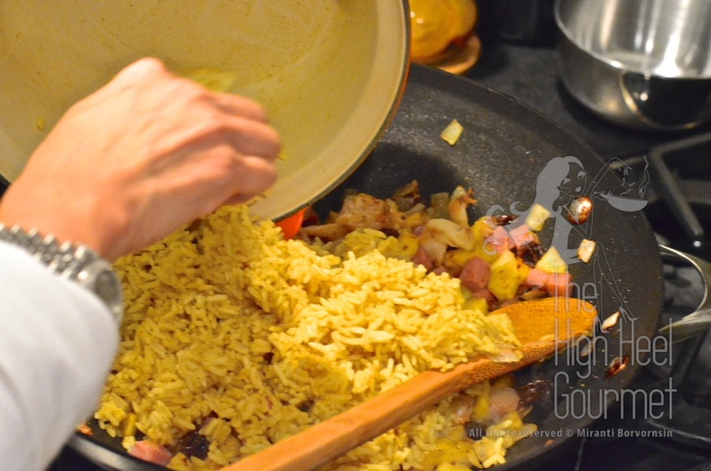 Pineapple Fried Rice - Khao Pad Sapparot by The High Heel Gourmet 11