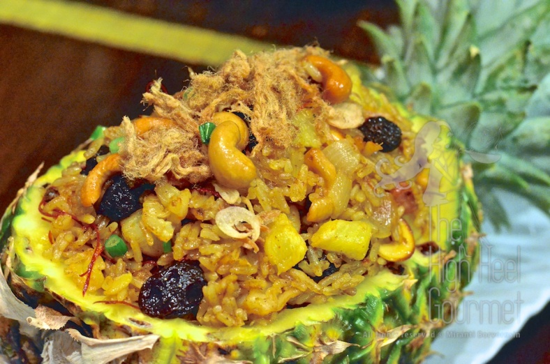Pineapple Fried Rice - Khao Pad Sapparot by The High Heel Gourmet 13
