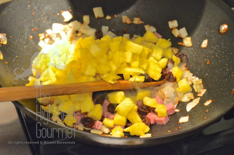 Pineapple Fried Rice - Khao Pad Sapparot by The High Heel Gourmet 3