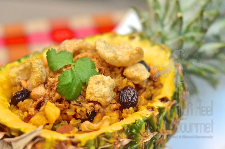 Pineapple Fried Rice - Khao Pad Sapparot by The High Heel Gourmet 9