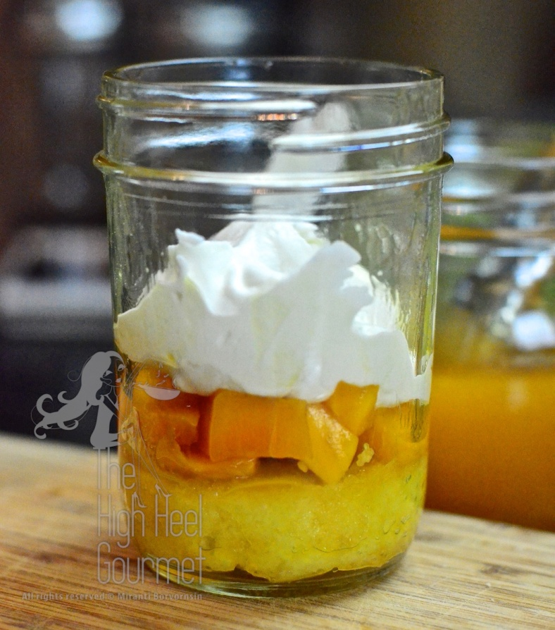 Cake in a jar - Mango Passion Fruit with Whipped Yogurt Frosting by The High Heel Gourmet 20