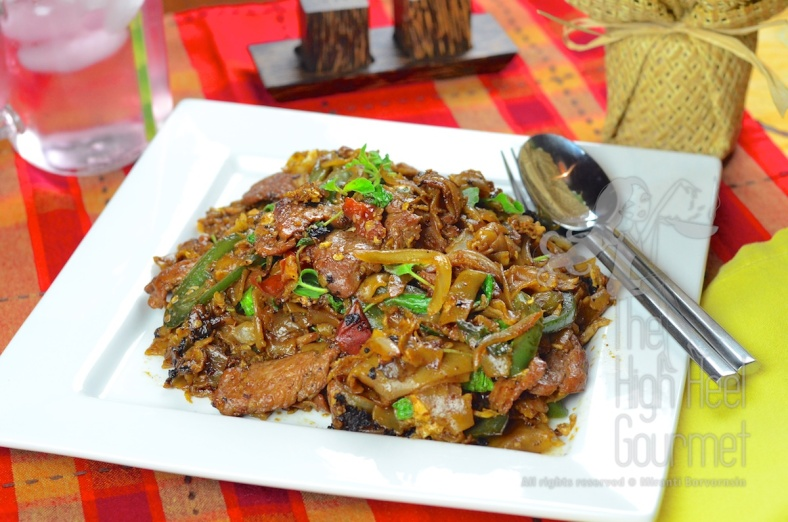 Authentic Thai Pad Kee Mao - spicy drunken noodles by the High Heel Gourmet  2
