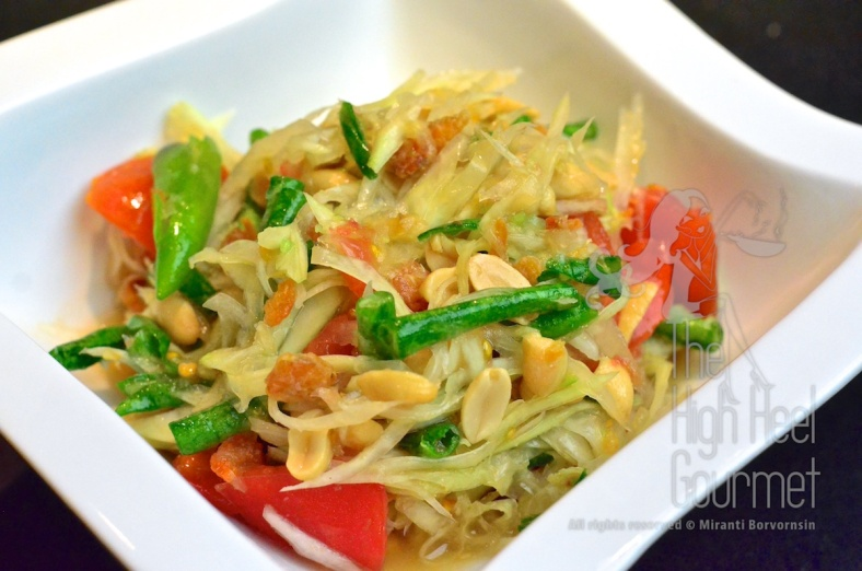 Thai Som Tam - Spicy Green Papaya Salad by The High Heel Gourmet 18