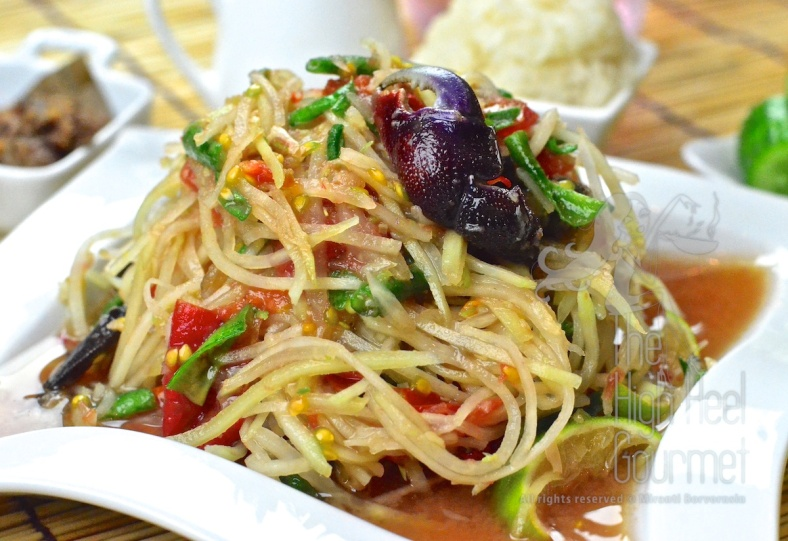 Thai Som Tam - Spicy Green Papaya Salad by The High Heel Gourmet 22