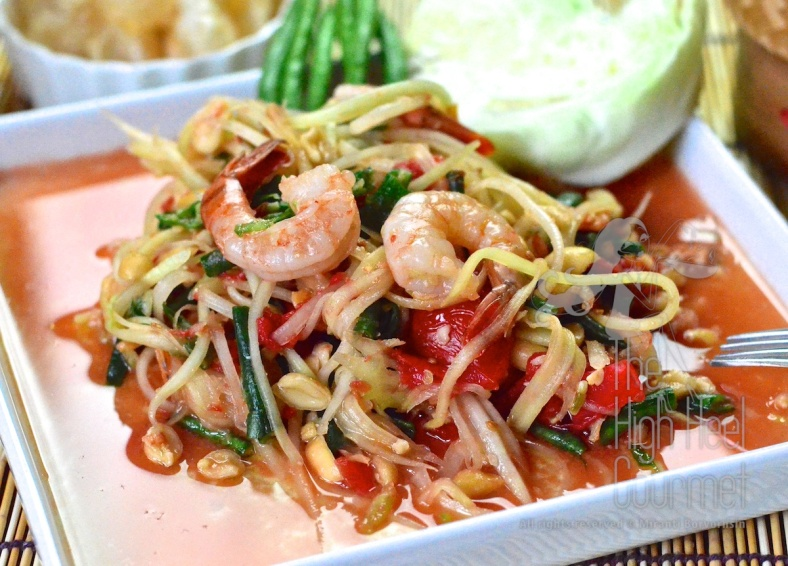 Thai Som Tam - Spicy Green Papaya Salad by The High Heel Gourmet 6