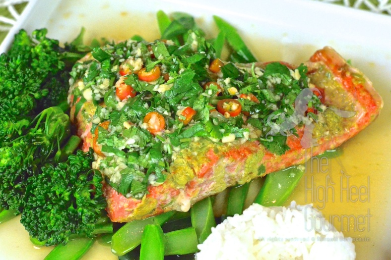 Thai Style Salmon with Garlic Chilies and Lime by The High Heel Gourmet 1