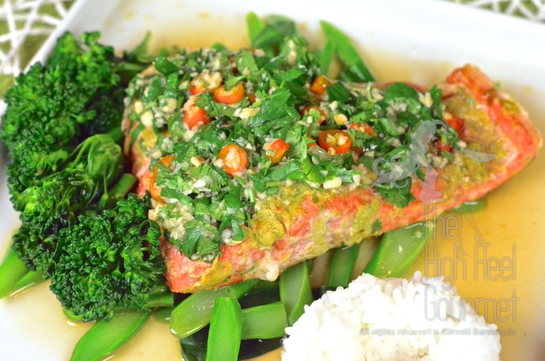 Thai Style Salmon with Garlic Chilies and Lime by The High Heel Gourmet 3