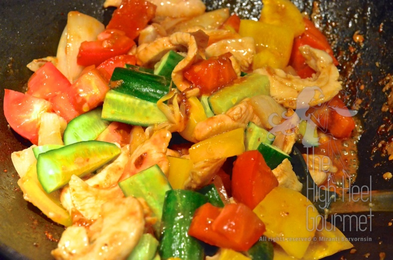 Thai Sweet and Sour Stir-Fry, Pad Priew Wan by The High Heel Gourmet 7