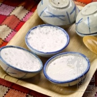 Thai Coconut Rice Custard, Kanom Tuay