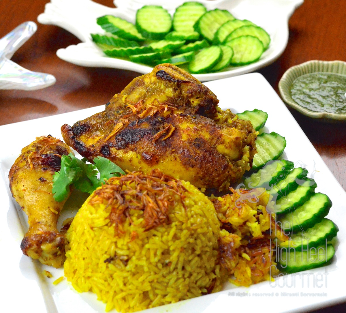 Thai Chicken Biryani, Halal Chicken and Curry Rice, Khao Mok Gai | The ...