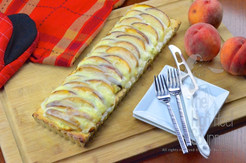 Quiche Tart with Peach by The High Heel Gourmet 14
