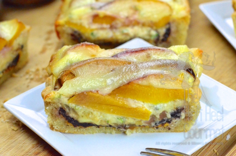 Quiche Tart with Peach by The High Heel Gourmet 15