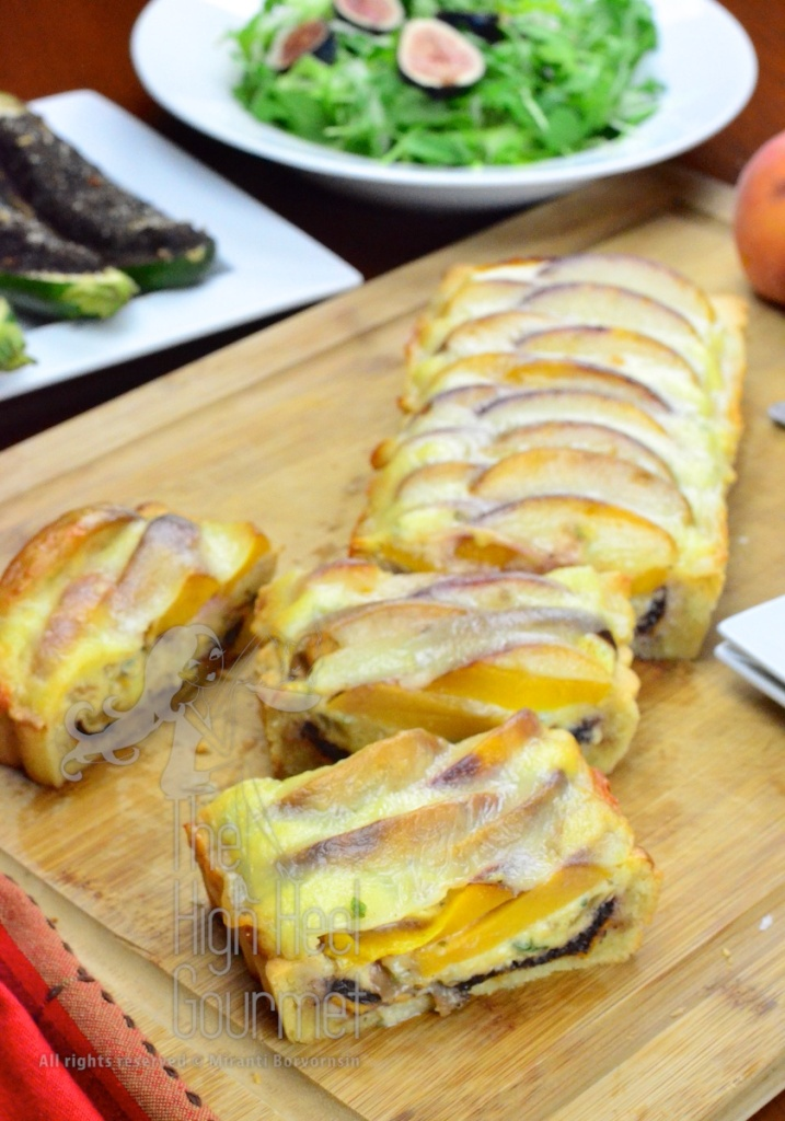 Quiche Tart with Peach by The High Heel Gourmet