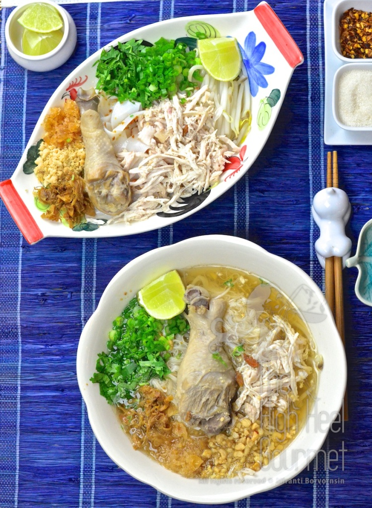 Thai Chicken Noodles Soup and Salad, Guay Tiew Gai by The High Heel Gourmet 1