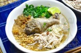 Thai Chicken Noodles Soup and Salad, Guay Tiew Gai by The High Heel Gourmet 2