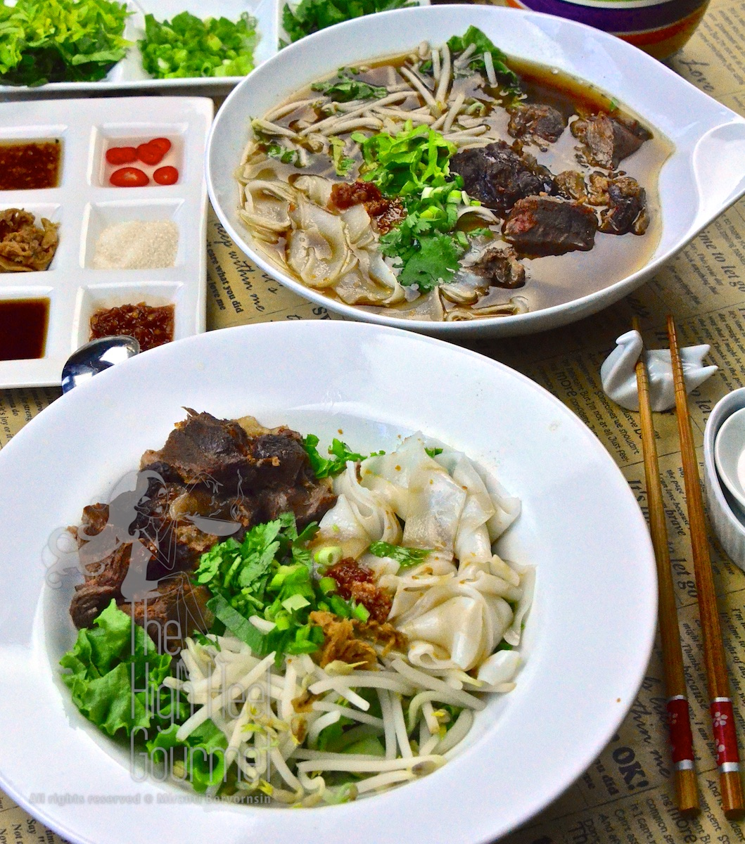 Authentic Thai Slow Cooked Beef with Noodles, Guay Tiew Neau