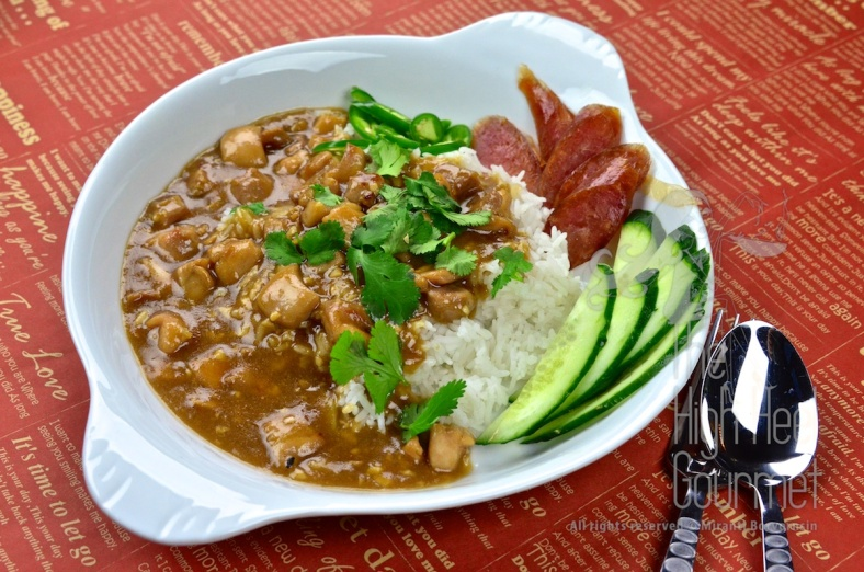 Chicken in Gravy Over Rice - Thai Khao Na Gai by The High Heel Gourmet 20