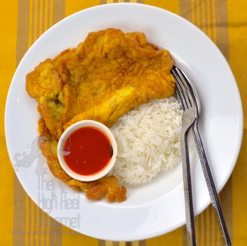 Thai Plain Deep Fried Omelette - Standard Khai Jiao by The High Heel Gourmet