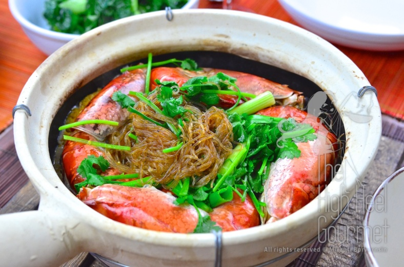 The shrimp-prawn baked in clay pot with glass noodles Goong Ob WoonSen 6