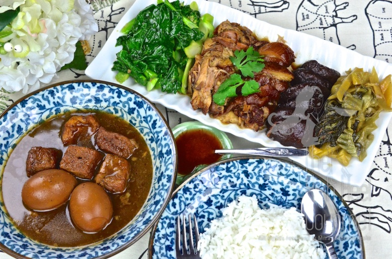 Thai Style Pork Leg Stew with Five Spice - Khao Kha Moo by The High Heel Gourmet 16