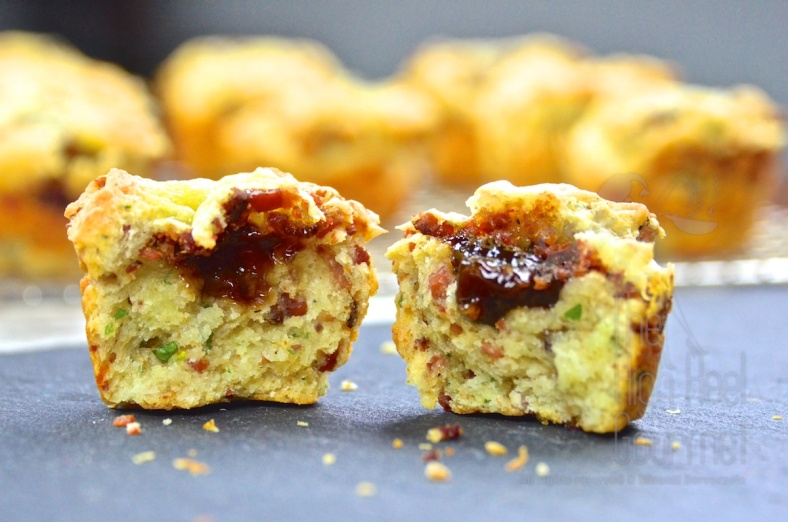 Bacon and Cheese Scuffin with Jam Filled by The High Heel Gourmet 5 (1)