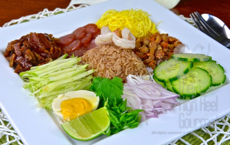 Thai Shrimp Paste Fried Rice - Khao Kluk Kapi by The High Heel Gourmet 4 (1)