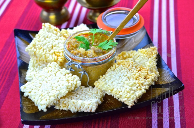 Crispy Rice Cake with Pork, Shrimp and Peanut in Coconut Dip – Thai Khao Tung Na Tung by The High Heel Gourmet 2