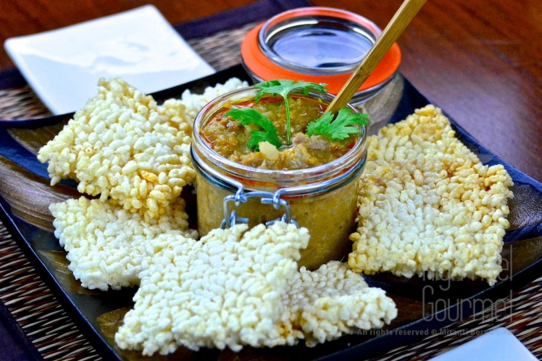 Crispy Rice Cake with Pork, Shrimp and Peanut in Coconut Dip – Thai Khao Tung Na Tung by The High Heel Gourmet 3
