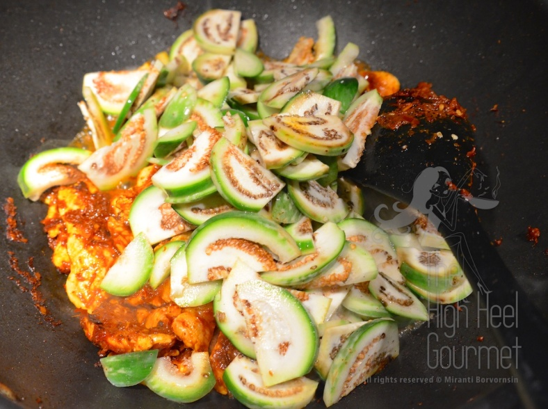 Thai style Chicken stir-fried with curry paste and Thai Eggplants - Pad Phed Gai by The High Heel Gourmet 3