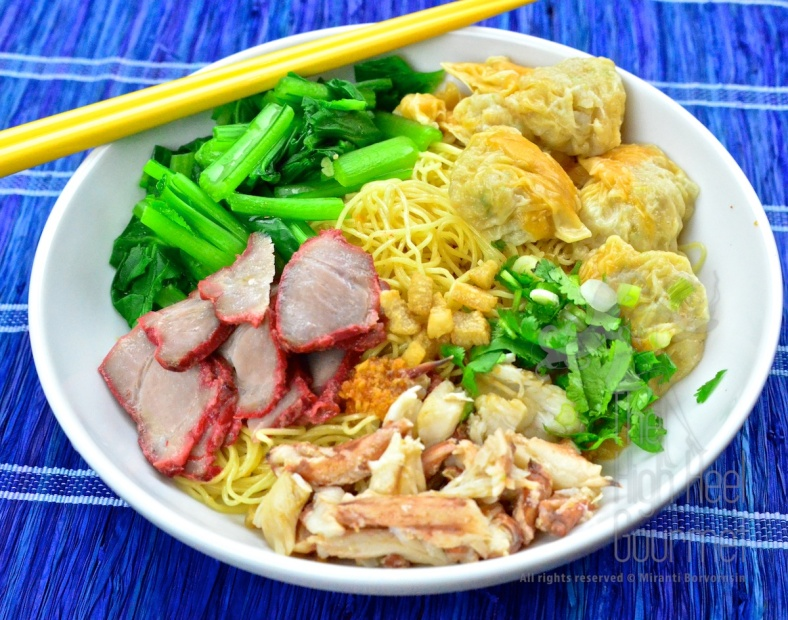 Egg Noodles with Wontons and Red Thai Barbecue Pork - Ba Mee Kiew Moo Dang by The High Heel Gourmet 4 (1)