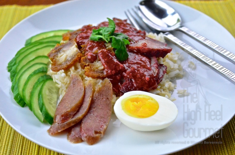 Thai Style Red Barbecue Pork on Rice with Red Sauce - Khao Moo Dang by The High Heel Gourmet 2 (1)