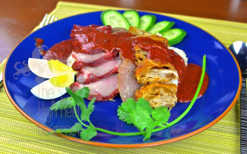 Thai Style Red Barbecue Pork on Rice with Red Sauce - Khao Moo Dang by The High Heel Gourmet 2