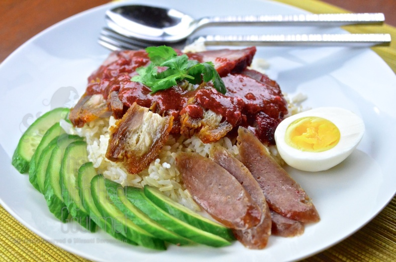 Thai Style Red Barbecue Pork on Rice with Red Sauce - Khao Moo Dang by The High Heel Gourmet 3